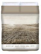 City Of San Jose County Of Santa Clara 1875 Duvet Cover