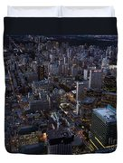 City Of Toronto Downtown After Sunset Duvet Cover