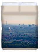 City Of Zagreb Panoramic Aerial View Duvet Cover