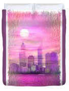 City On Night View Duvet Cover