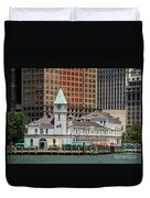 City Pier A And Pier A Harbor House In New York City Duvet Cover