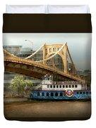 City - Pittsburg Pa - Great Memories Duvet Cover