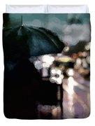 City Rain Duvet Cover by Susan Maxwell Schmidt