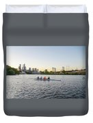 City Skyline - Philadelphia On The Schuylkill River Duvet Cover