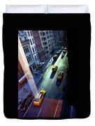 City Street Aerial New York Duvet Cover