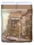 City Streets In Grunge 2 Duvet Cover