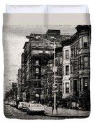 City Streets In Grunge Duvet Cover
