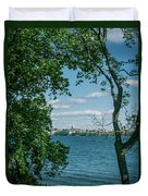 City Through The Trees Duvet Cover