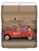 City Tour Car Strasbourg France Duvet Cover