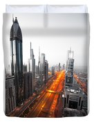 City Veins Dubai Duvet Cover