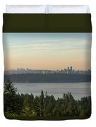 City View Of Vancouver And Burnaby Bc Duvet Cover