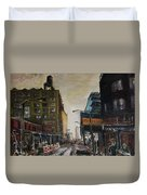 City With Barrels Duvet Cover