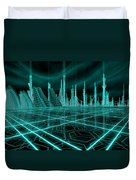 Cityscape 2010 Alpha Duvet Cover by James Christopher Hill