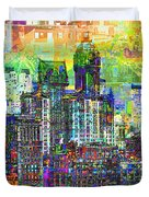 Cityscape Art City Optimist Duvet Cover