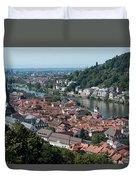 Cityscape  Of Heidelberg In Germany Duvet Cover