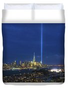 Cityscape Tribute In Lights Nyc Duvet Cover