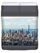 Cityscape View Of Manhattan, New York City. Duvet Cover