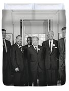 Civil Rights Leaders And President Kennedy 1963 Duvet Cover