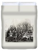 Civil War: Camp Life, 1861 Duvet Cover