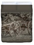 Civil War Cannon And Limber Duvet Cover