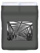 Civil War - Chain Bridge Duvet Cover by William Morris Smith