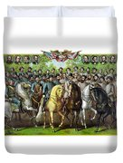 Civil War Generals And Statesman Duvet Cover