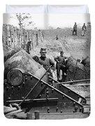 Civil War: Union Mortars Duvet Cover
