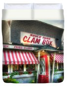 Clam Box Restaurant - Ipswich Ma Duvet Cover by Joann Vitali
