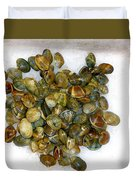 Clams In The Fish Market Duvet Cover