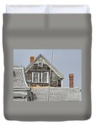 Clapboards And Tar Paper Duvet Cover