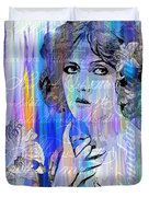 Clara Bow I'll See You In New York Duvet Cover