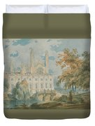 Clare Hall And Kings College Chapel, Cambridge  Duvet Cover