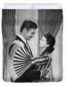 Clark Gable And Vivien Leigh Duvet Cover