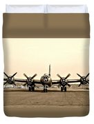 Classic B-29 Bomber Aircraft Duvet Cover