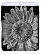 Classic Black And White Sunflower Duvet Cover