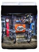 Classic British Bikes Duvet Cover