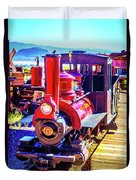 Classic Calico Train Duvet Cover