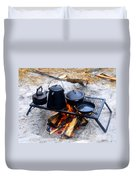 Classic Camp Cooking Duvet Cover