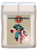 Classic Captain America Duvet Cover by Mista Perez Cartoon Art