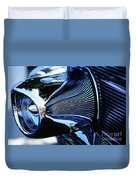 Classic Car Chrome Abstract Reflected Grill Duvet Cover