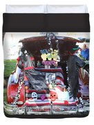 Classic Car Decor Day Of The Dead  Duvet Cover