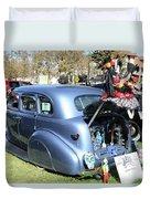 Classic Car Decorations Day Dead  Duvet Cover