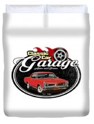 Classic Car Garage With Gto Duvet Cover