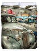 Classic Car Memorabilia Duvet Cover