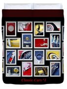 Classic Car Montage Art 1 Duvet Cover