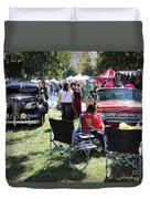 Classic Cars Day Of The Dead II Duvet Cover