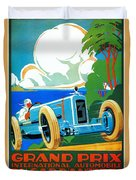 Classic Cars Motor Racing Grand Prix French Riviera 1929  Duvet Cover