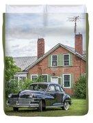 Classic Chrysler 1940s Sedan Duvet Cover