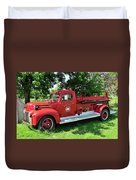 Classic Fire Truck Duvet Cover