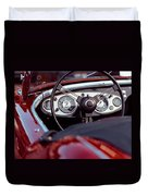 Classic Ford Convertible Interior Duvet Cover